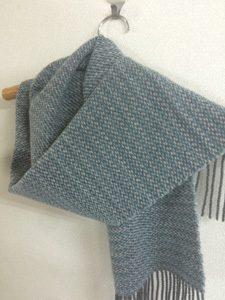 機織り作品-マフラー